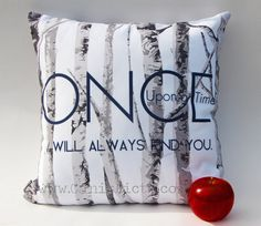 Once Upon a Time Throw Pillow Television Show by CanisPicta