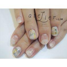 クリア チェック### #atelier#atelierlim#lim#nail#アトリエ#リム#ネイル#西山