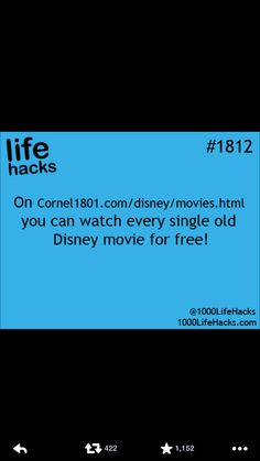 disney movies free Essential Life Hacks & How-to's You Need In Your Life. Simple Life Hacks, Useful Life Hacks, Best Life Hacks, Disney Life Hacks, Awesome Life Hacks, Life Hacks Websites, Hack My Life, The More You Know, Good To Know