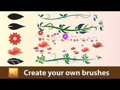 Create your own brushes in Adobe Illustrator. - YouTube