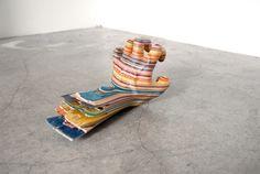Creative Art Sculptures from Old Skateboards by Haroshi » FREEYORK