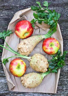 apples celery root gratin