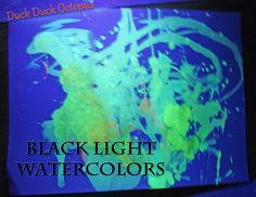 Make black light watercolors for a unique painting experience. You can even write top-secret messages!