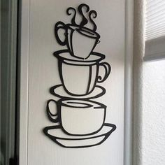 Cheap pegatinas de pared, Buy Quality stickers home decor directly from China wall stickers home decor Suppliers: wall stickers home decor Removable DIY Kitchen Decor Coffee House Cup Decals Vinyl Wall Sticker muurstickers pegatinas de pared Kitchen Wall Stickers, Wall Stickers Home Decor, Wall Stickers Murals, Vinyl Wall Art, Wall Decal Sticker, Metal Wall Art, Mural Wall, Vinyl Decor, New Wall
