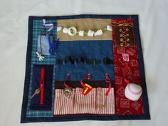 Busy Fingers Fidget Quilt- Tactile - Bright & Colorful- Fun for Alzhiemer Patients