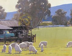 Carneros Spring. 24x30. Oil on canvas. Randy Sexton