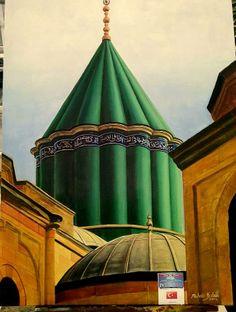 Mevlana türbe  (Konya)135x100.Oil on canvas.2014.Muhsin Kaleli