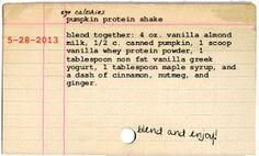 Get Fit With My Sweet Savannah: ~pumpkin protein shake~