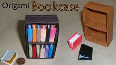 Learn how to make a cute miniature origami book. This modular origami book is easy to make. Origami Garland, Origami Ball, Origami Stars, Origami Flowers, Origami Instructions, Origami Tutorial, Origami Chair, Origami Furniture, Origami Pencil Holder
