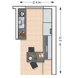 image Kitchen Room Design, Kitchen Layout, Kitchen Interior, Salons Rectangulaires, Küchen Design, House Design, Farmhouse Kitchen Inspiration, Made To Measure Furniture, Yellow Kitchen Decor