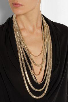 Rosantica|Bianca gold-dipped necklace|NET-A-PORTER.COM