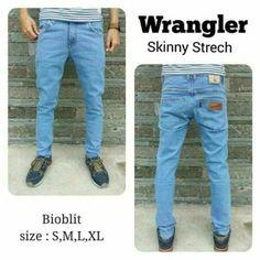 Jeans Pria Model Skinny Fit/Pensil Wrangler Bio Wash