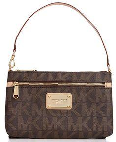 MICHAEL Michael Kors MK Logo Large Wristlet - Handbags & Accessories - Macy's
