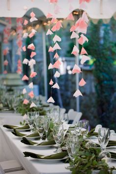 hanging fabric flowers