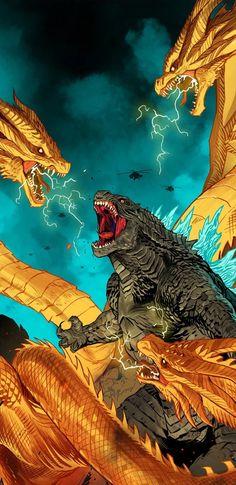 King Kong, Godzilla Tattoo, Godzilla Wallpaper, All Godzilla Monsters, Childhood Movies, Art Inspiration Drawing, Classic Horror Movies, Monster Hunter, Fantasy World