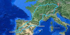 #Route der #Europa #Städtereise - 7 Städte in 3 Wochen