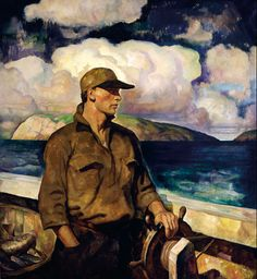 How to master value change?: N.C. Wyeth, A Young Maine Fisherman, 1933. Patriarch of artists Andrew Wyeth, Henriette Wyeth Hurd, Carolyn Wyeth, Ann Wyeth McCoy, and Jamie Wyeth.