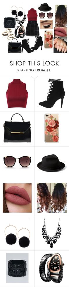 """""""First Date: Fall Coffee"""" by shayma-sheikh ❤ liked on Polyvore featuring Pilot, Ted Baker, Casetify, Rebecca Taylor, Yellow 108, 2028, Chanel and Bulgari"""