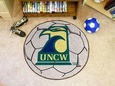 UNC North Carolina Wilmington Seahawks Soccer Ball Area Rug Welcome/Bath Mat
