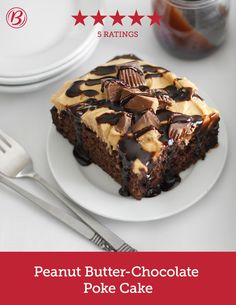 Betty Crocker Peanut Butter Chocolate Poke Cake
