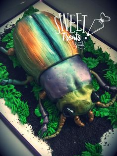 This Beetle cake was made start to finish (yes, including baking) in one evening. Bug Birthday Cakes, 4th Birthday Party For Boys, Picnic Birthday, Minecraft Birthday Party, Birthday Party Games, Joshua 5, Bug Cake, Lion King Birthday, Cupcake Party