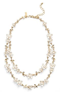 kate spade new york 'pretty petal' double strand necklace