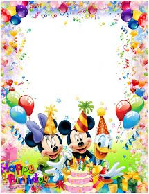 birthday frames - png frame birthday frames kids frame png Children frame for photo Children frame Children photo fr - Happy Birthday Mickey Mouse, Mickey Mouse Clubhouse Invitations, Happy Birthday Frame, Birthday Photo Frame, Happy Birthday Photos, Happy Birthday Wishes Cards, Happy Birthday Celebration, Birthday Pins, Birthday Frames