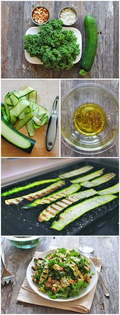 Grilled Zucchini Ribbon & Kale Salad: This salad is WAY too easy to be this freaking delish.