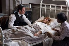 """Ep 918- """"Cometh The Archer"""" Photos by Christos Kalohoridis for Shaftesbury Copyright- Shaftesbury Murdoch (Yannick Bisson) attempts to communicate with Ogden (Hélène Joy) using the EEG machine with help from Miss James (Mouna Traoré)."""