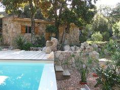 Ferienhaus am Strand, in Porto-Vecchio mieten - 643127 Porto Vecchio, Courtyard Pool, Mediterranean Garden, Outside Living, Backyard, Patio, Stone Houses, Facade, The Good Place