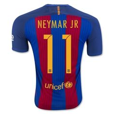 """Small (S): 38""""-40"""" Chest Medium (M): 41"""" Chest Large (L): 43"""" Chest Extra Large (XL): 45"""" Chest Neymar JR #11 FC BARCELONA 16/17 HOME SOCCER FOOTBALL JERSEY REPLICA NWT I recommend all buyers purchase at least one size larger then they would ..."""