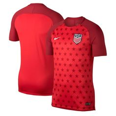 11d0e4550 Nike USMNT Red GX2 Training Jersey