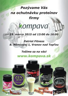 Pozývame Vás na ochutnávku proteínov značky Kompava.