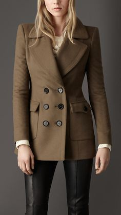 Burberry Oversize Pocket Pea Coat