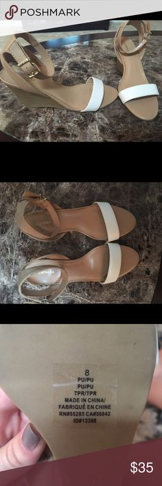 Express wedge heels NWOT express wedge heels. Never worn. Size 8 women's shoes Express Shoes Wedges
