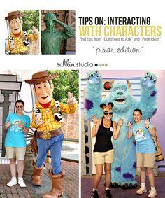 Tips & Pose Ideas On Interacting with #Disney Pixar #Characters: Sahlin Studio