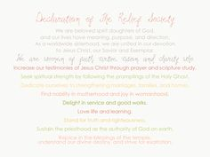 Declaration of the Relief Society