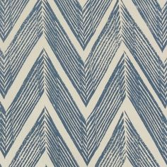 Zig Zag Linen Fabric A stylish linen fabric with a zig zag pattern printed in blue on a cream ground. The design was created in 1935 by Enid Marx, celebrated painter and designer of textiles. Textiles, Textile Patterns, Print Patterns, Blue And White Fabric, Blue Fabric, Linen Fabric, Fabric Design, Textile Design, Pattern Design