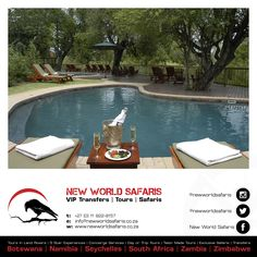 New World Safaris ------------------ VIP Transfers   Tours   Safaris ------ Follow us on Facebook facebook.com/newworldsafaris Travel Tours, Day Trip, Lodges, Vip, South Africa, Traveling By Yourself, Safari, How To Memorize Things, Facebook