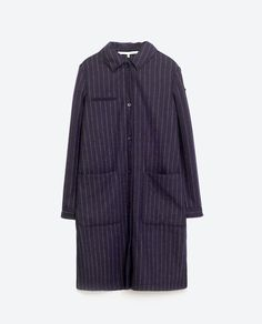 Image 8 of STRIPED CLOTH OVERSHIRT from Zara