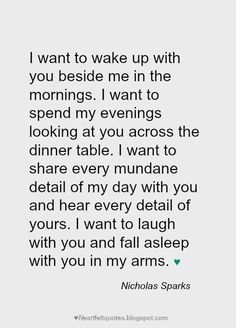 Heartfelt  Love And Life Quotes: Nicholas Sparks Romantic Love Quotes
