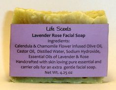 Extra gentle Lavender Rose facial soap made in the crockpot -