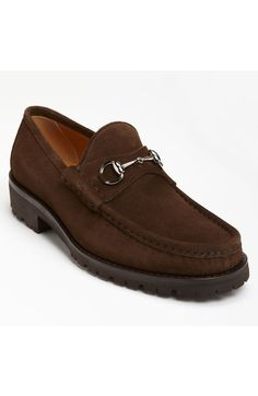 buy popular 6625b 66714 Gucci Classic Lug Sole Moccasin available at  Nordstrom Brown Suede  Loafers, Suede Shoes,