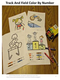 Color by Number Math Color by NumberTrack and Field Special
