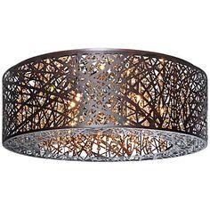 """ET2 Inca 23 1/2"""" Wide LED Cognac Bronze Ceiling Light $598"""