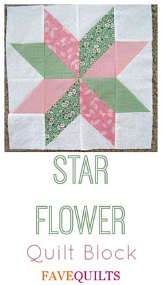 Star Flower Quilt Block