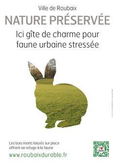 Trame verte et bleue Roubaix - affichette à télécharger - lapin