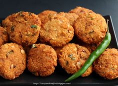 Chana Dhal Masala Vadai (Deep Fried Lentil Snack) - Vegan (probably works baked, too)