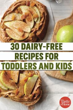 Working around a dairy allergy or lactose intolerance is challenging, but we've got you covered with these dairy-free dinner recipes. Dairy Free Recipes For Toddlers, Toddler Dinner Recipes, Dairy Free Snacks, Dessert Recipes For Kids, Easy Meals For Kids, Gluten Free Recipes For Dinner, Toddler Meals, Easy Smoothie Recipes, Dip Recipes