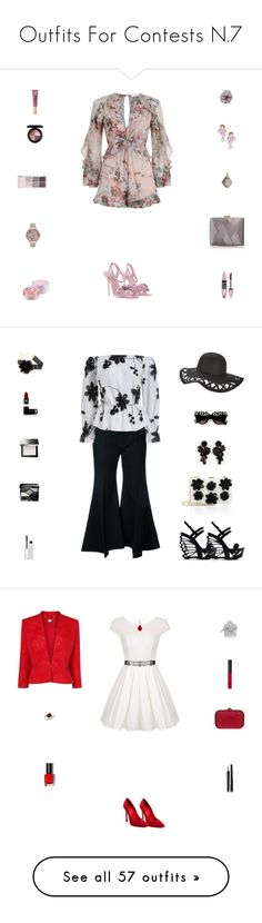 """""""Outfits For Contests N.7"""" by billsacred ❤ liked on Polyvore featuring Zimmermann, Rina Limor, Lancôme, Sophia Webster, Maybelline, MAC Cosmetics, Olivia Burton, La Regale, Tasha and Michael Valitutti"""